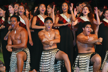 Kahuku High May Night, April 26, 2007, Polynesian Cultural Center Pacific Theater; photo by Mike Foley