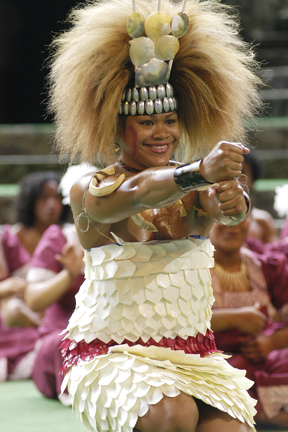 Polynesian Cultural Center Samoan cultural arts high school festival, 14 May 2005: Photo by Mike Foley