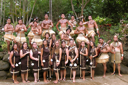 Polynesian Cultural Center Maori cultural festival competition, March 2003; photo by Mike Foley
