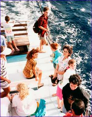 Foleys on boat to Molokini
