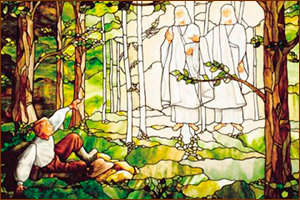 """First Vision"" stained glass art"
